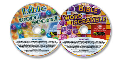 2 CD-ROMs (Bible Word Scramble /Bible Word Search)