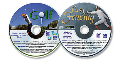 2 CD-ROM Set (Easy Golf /Easy Fencing)