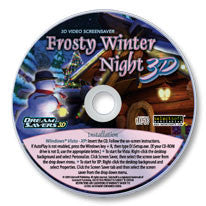 Frosty Winter Night 3D Screensaver