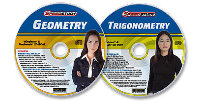 2 CD-ROM Set (Speedstudy Geometry /Speedstudy Trigonometry)