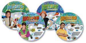 4 DVD Kid Science Experiments set (Chemistry /Biology /Nature /Physics)