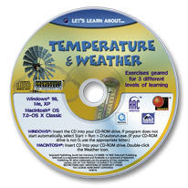 Let's Learn About Temperature & Weather CD-ROM