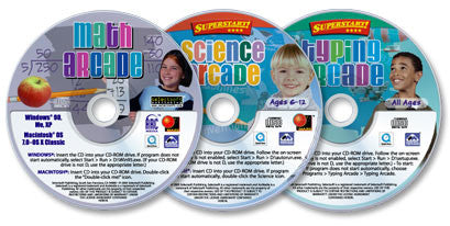 3 CD-ROM Set (Math Arcade /Science Arcade /Typing Arcade)