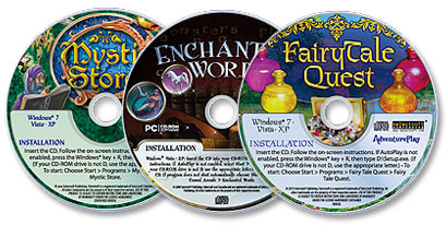 3 CD-ROM Set (Mystic Store /Enchanted Words /Fairy Tale Quest)