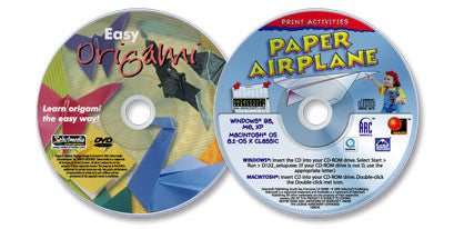 2 Disc Set (Paper Airplane CD-ROM /Easy Origami DVD)