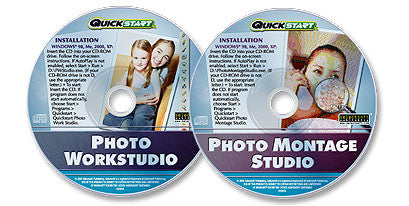 2 CD-ROM Set (Photo Workstudio /Photo Montage Studio)