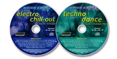 2 CD-ROM Techno Dance /Electro Chill-out Music Station Pro Set