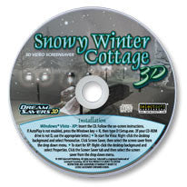 Snowy Winter Cottage 3D Screensaver