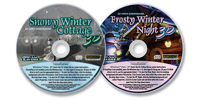 2 Disc Set (Snowy Winter Cottage 3D /Frosty Winter Night 3D)