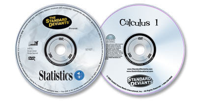 2 DVD Set (Statistics 1 /Calculus 1)