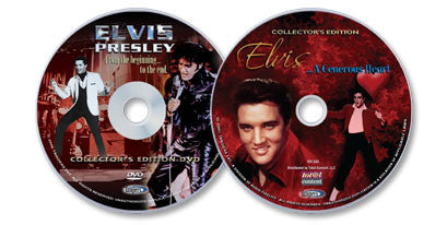 Elvis 2 DVD Set -  Elvis: From the Beginning to the End DVD and Elvis: A Generous Heart DVD.