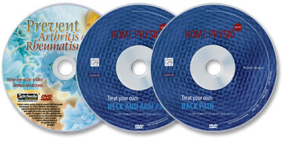 3 DVD Set (Treat Your Own Back Pain /Treat Your Own Neck & Arm Pain /Prevent Arthritis & Rheumatism)