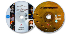 2 DVD Set (20 Country Legends /20 First Ladies of Country)