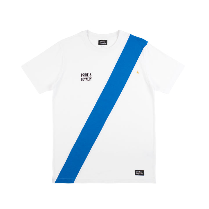 Pride & Loyalty Classic T-shirt blauw-wit | Clubliefde = voetbalcultuur