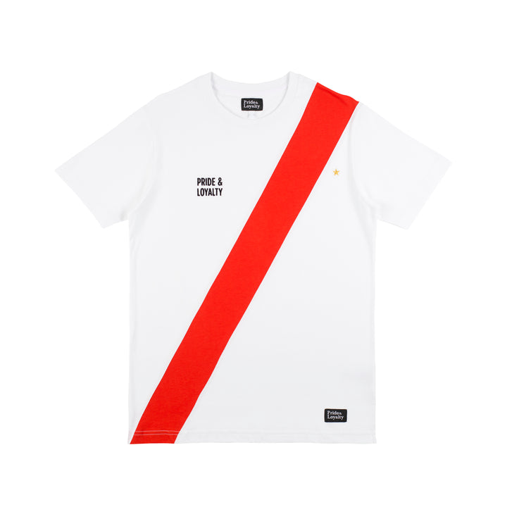 Pride & Loyalty Classic T-shirt Rood-wit | Clubliefde = voetbalcultuur