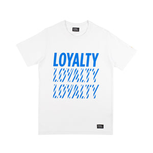 Pride & Loyalty Loyalty T-shirt blauw-wit | Clubliefde = voetbalcultuur