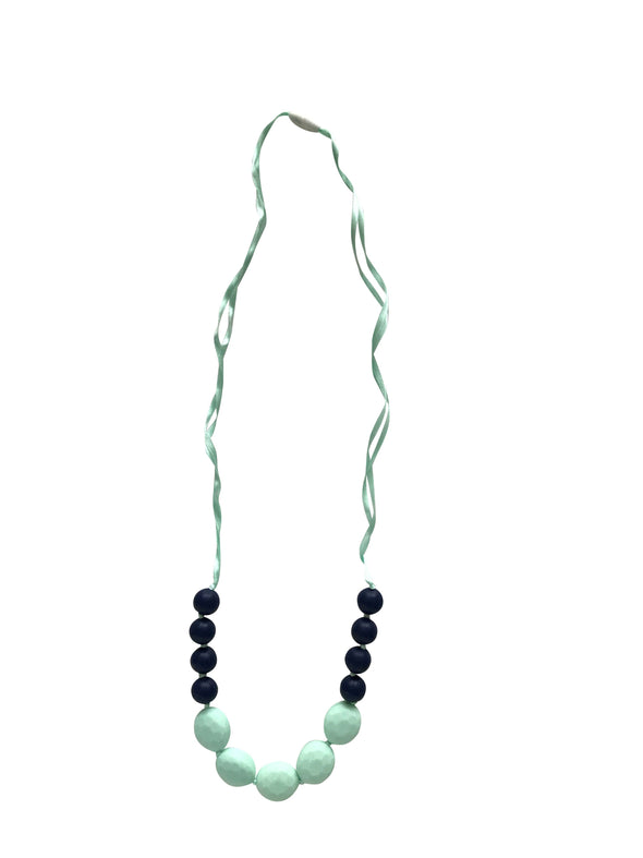 Navy & Mint Teething Necklace