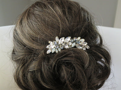 MARGO:  Touch of Blue Hair Comb - BlingBaddaBoom - Minimalist, Vintage, Modern Wedding and Bridal Jewelry