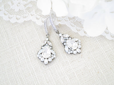 DILLON:  Vintage Style Bridal Earrings - BlingBaddaBoom - Minimalist, Vintage, Modern Wedding and Bridal Jewelry