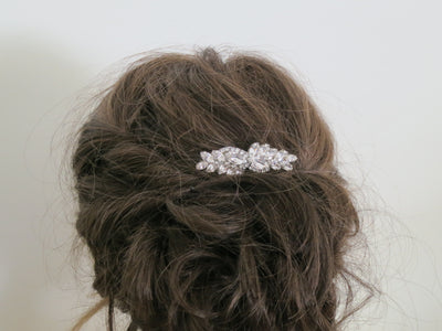 LAUREN: Swarovski Crystal Hair Comb - BlingBaddaBoom - Minimalist, Vintage, Modern Wedding and Bridal Jewelry