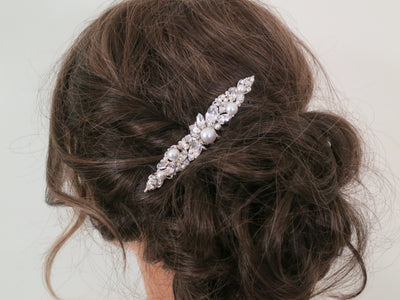 KENDRA:  Modern Bridal Hair Comb - BlingBaddaBoom - Minimalist, Vintage, Modern Wedding and Bridal Jewelry