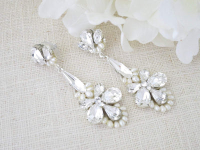 LACEY:  Exquisite Chandelier Earrings - BlingBaddaBoom - Minimalist, Vintage, Modern Wedding and Bridal Jewelry