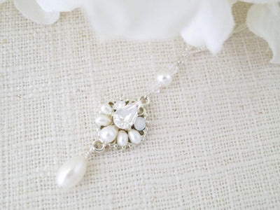 KIRSTY:  Long Delicate Wedding Necklace - BlingBaddaBoom - Minimalist, Vintage, Modern Wedding and Bridal Jewelry