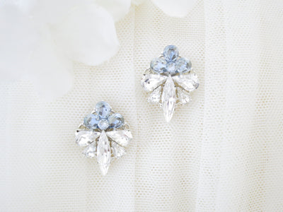 RIVER:  Something Blue Bridal Earrings - BlingBaddaBoom - Minimalist, Vintage, Modern Wedding and Bridal Jewelry