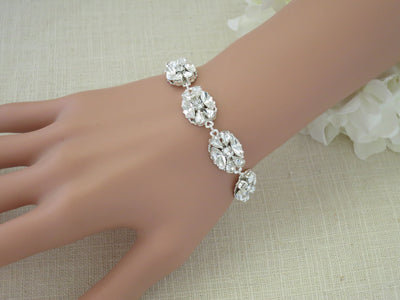 MONROE: Glitz and Glam Bracelet - BlingBaddaBoom - Minimalist, Vintage, Modern Wedding and Bridal Jewelry
