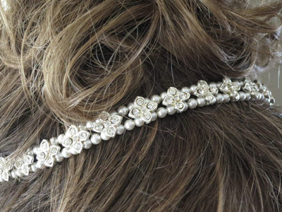 HEATHER:  Rhinestone Star Headpiece - BlingBaddaBoom - Minimalist, Vintage, Modern Wedding and Bridal Jewelry