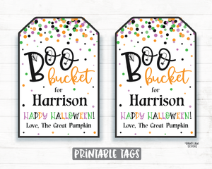 Boo Bucket Tags Halloween Printable Halloween Tag Editable Halloween Favor Tags Halloween Boo Basket Tags 2020 Social Distancing Pandemic