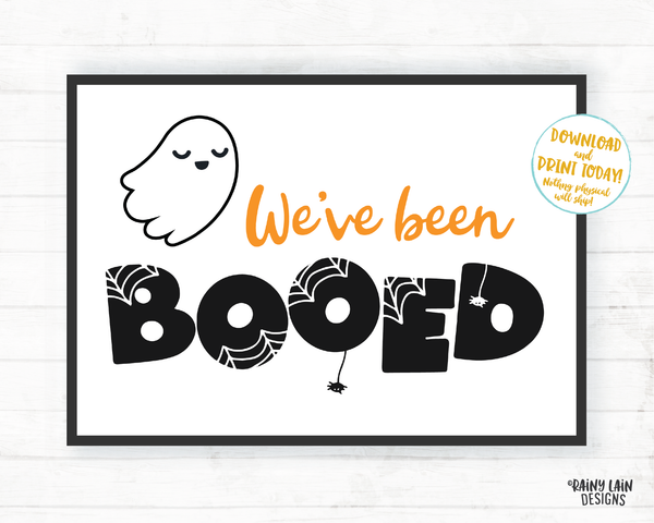 You've Been BOOed Set, BOO Tags, BOOed Instructions, We've been BOOed Sign, Halloween BOOed Printable Set BOOed Neighborhood game BOOed game