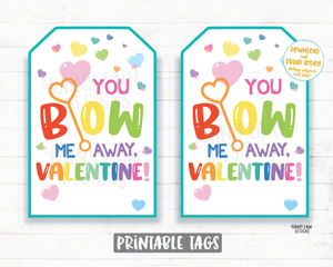 You Blow Me Away Valentine Tag, Bubbles Valentine Favor Tag, Preschool Valentines Non-Candy Classroom Printable Valentine Tags