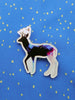 deer acrylic brooch in constellation galaxy stars print
