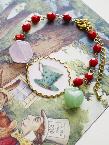 rose tea or apple tea bracelet