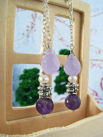 amethyst tourmaline earrings