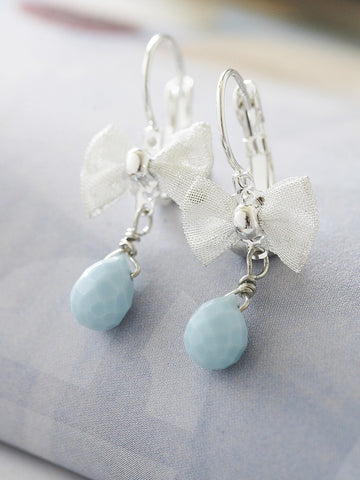 amazonite ribbon drop earrings