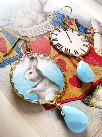 the rabbit is late earrings