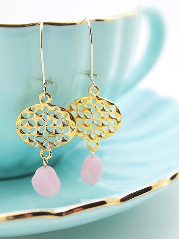 petal ovals earrings