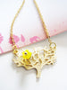 blossoming tree necklace - matte gold