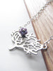 blossoming tree necklace - matte silver