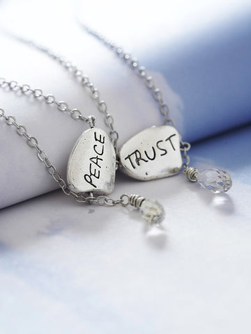 peace in trust 2-sided necklace
