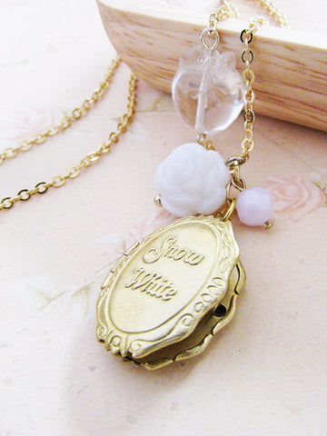 Snow White locket necklace