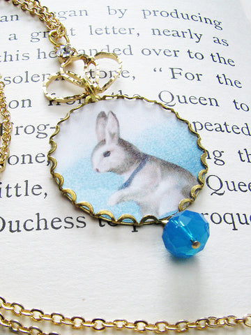 white rabbit & duchess necklace