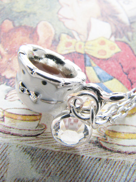 beautiful dainty teacup necklace