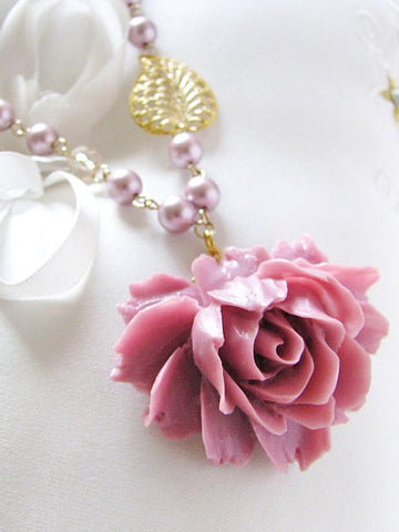 plum romance necklace