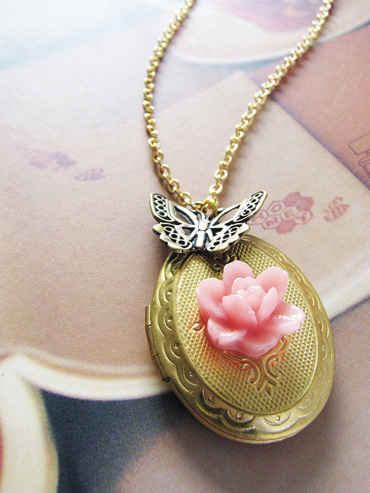 in v locket butterfly oval zales p necklaces gold lockets
