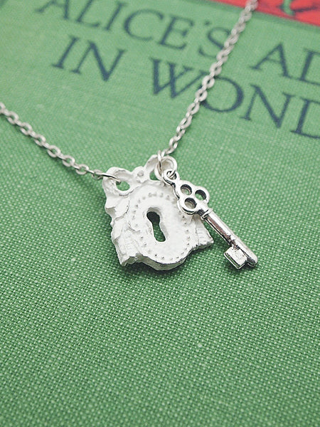 shabby chic keyhole necklace
