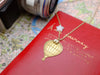 around the world necklace - hot air balloon, 14K gold-plated camera, star