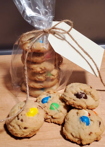 White Chocolate Peanut M&M cookies